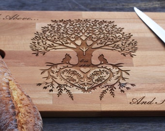 The Tree Chopping  Board / Cutting Board/ Cheese Board Laser Engraved / Bread Board
