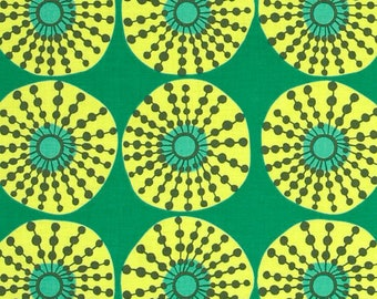 Sun Glow in Jade by Amy Butler from the Lark collection for Rowan , 100% Cotton Quilting Fabric Apparel, Fabric by the Yard