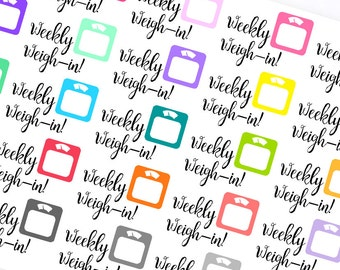 Weekly Weigh-In- Planner Stickers