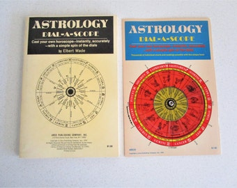 Astrology Dial-a-Scope Cast Your Own Horoscope With Dial by Elbert Wade Zodiac, Astrology 1970
