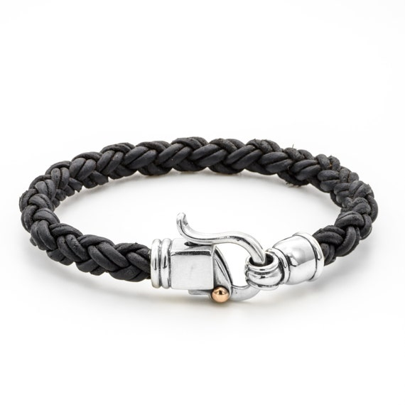 Mens Braided Leather Bracelet Leather Jewelry for Men