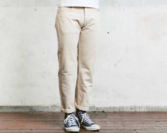 Vintage Levis 517 Beige Jeans . Pants 90s Men Trousers Mens Levi's Trousers 90s Oldschool Pants 90s Nerd Trousers Dad Pants . size W31 L30