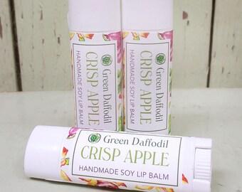Crisp Apple Soy Lip Balm Tube- Vegan - Green Daffodil