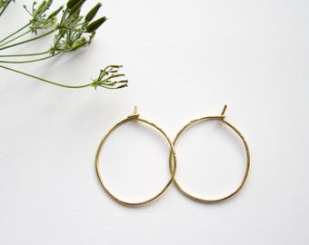 Lightly hammered gold filled hoop earrings, textured hoops, fine hoop earrings, small hoops, big hoops, gold hoops, gold jewelry
