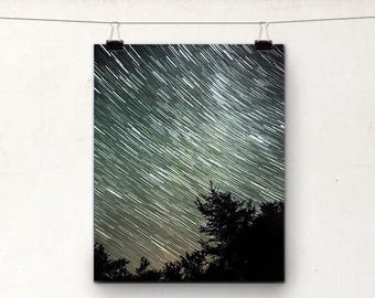Star Trails, Astrophotography, Silhouette, Landscape Photography