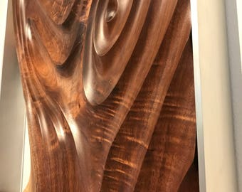 Walnut wall hanging sculpture