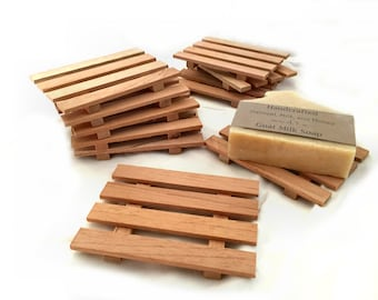 10 aromatic Spanish cedar thin soap dishes - RESERVED for SMBC members - JUST .93 cents each