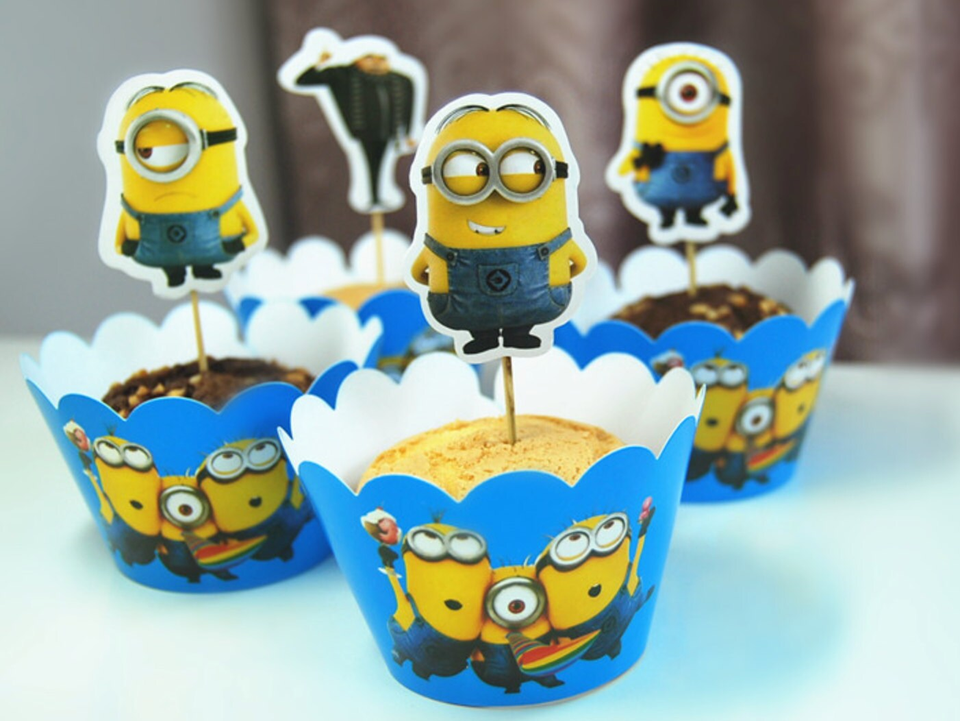 Minions Cupcake Wrapper Despicable Me Minion Topper Picks