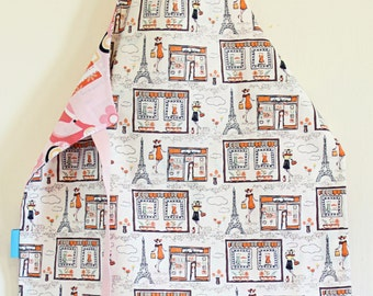 Child Apron| Kids Apron, Toddler Apron, Cotton Apron, Play Apron, Children's apron, fun kids apron, Craft apron |Love Paris|