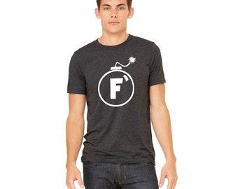 F Bomb Triblend Shirt | Funny Shirt | College Humor Shirt | Sailor Shirt | Cursing Shirt | Dropping F Bomb Shirt | Father's Day Shirt | Gift