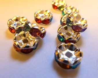 Mardi Gras Crystal Spacer Beads
