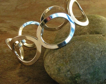 Sterling Bubbles Bangle, sterling Silver, Hand Soldered