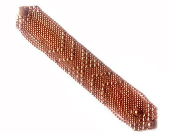 Copper bracelet,Copper Mesh Bracelet,Snap button bracelet,Men Copper bracelet,Copper bracelet for women,Modern Jewelry A145C