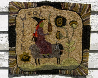 Wool Witch - Rug Hooking Pattern on PAPER (mailed) - from Notforgotten Farm™