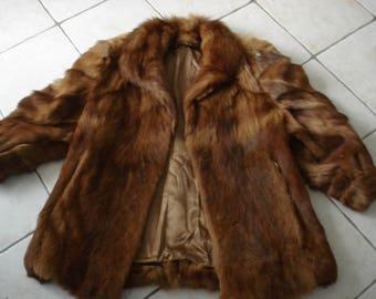 JACKET VINTAGE genuine fur size 42 very good condition