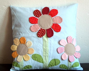 Pillow Cover Flower Patchwork