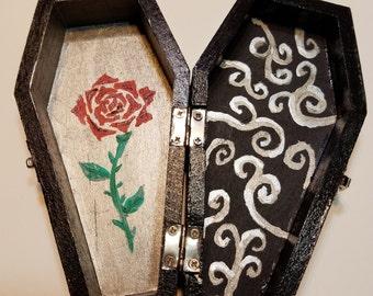 Coffin jewelry box Etsy