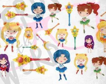 Sailor Moon Planner Stickers