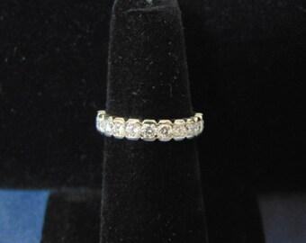 Womens Vintage Estate 14K White Gold & Diamond Ring w/ Appraisal 3.1g E2493