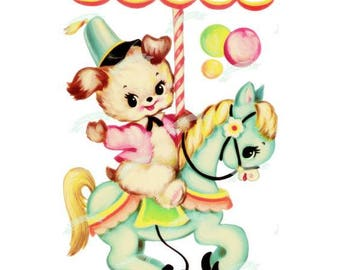 Merry Go Round Cross Stitch Pattern PDF