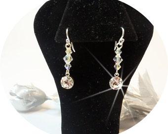 Kids Rhinestone Earrings, Girls Earrings, Dangle Earrings, Crystal, Pageant Earrings, Glitz, Sparkle, Recital, Competition, Kids Jewelry