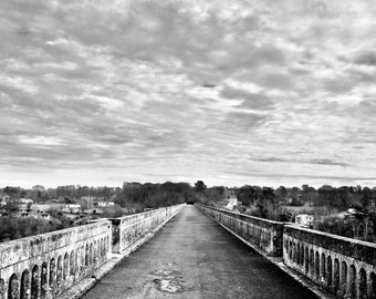 Viaduct to the sky, Black and White canvas print