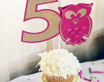 Number Cake Topper, Owl Cake Topper, Smash Cake Topper, First Birthday Cake Topper, Owl Cake Topper, Owl Theme Birthday, Smash Cake Props