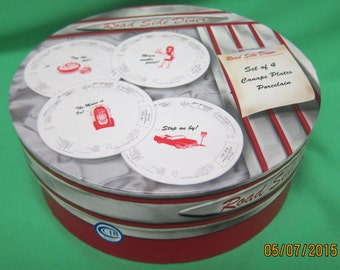 Home Essentials Road Side Diner Canape Plates