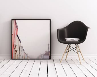 Fog Print, Brighton Streets, Pastel Wall Art - The Fog