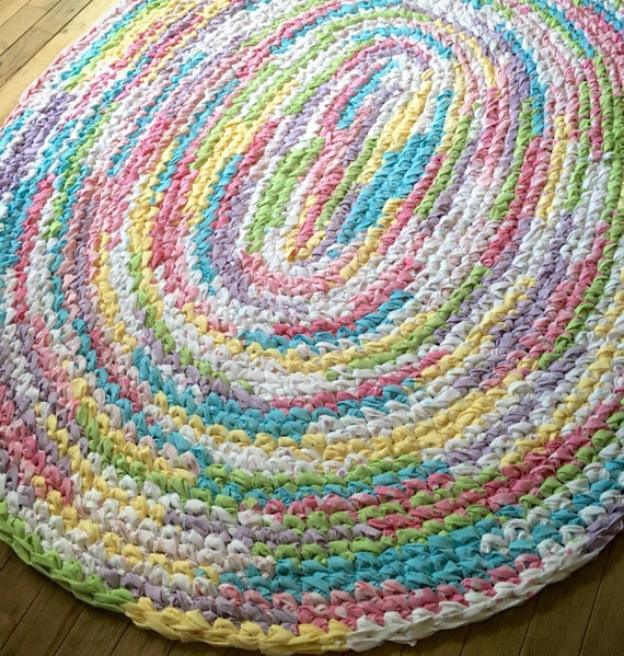Gorgeous Custom Made Oval Rag Rug by MyJoyfulEndeavors