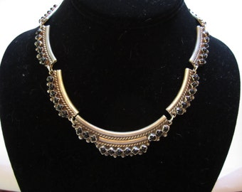 Vintage Mexican Sterling 925 Onyx Necklace