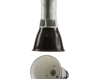 Large Black and Gray Czech Factory, Industrial Pendant Lamp