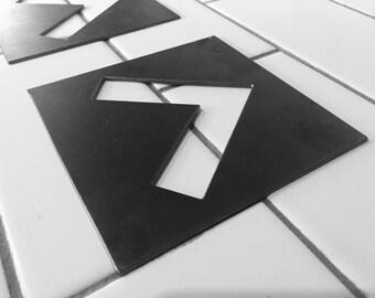 Set of 3 Metal Arrow Signs