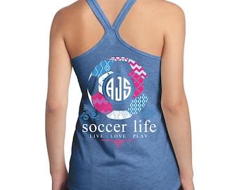 OFFICIAL TM Soccer Life™ Custom Monogram Tank Soccer Shirt Soccer Tank