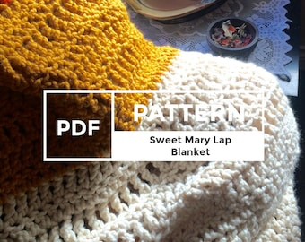 Blanket Crochet Pattern, Lap Blanket PDF pattern, Crochet pattern, Sweet Mary Lap Blanket pattern,  Easy and Quick cozy pattern,blanket