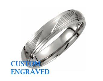 Custom titanium ring Etsy