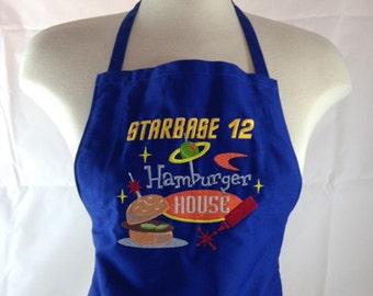 Hilarious Starbase 12 Hamburger house apron