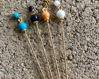 Hijab Pins - Scarf Pins - Embellishment Pins - Beaded Stick Pins - Decorative Pins