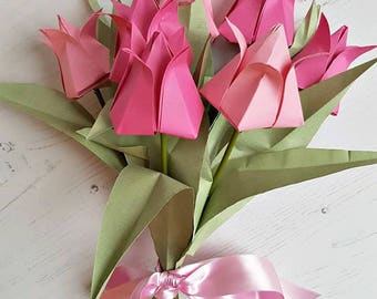 Paper flower bouquet mixed origami flower bouquet featuring first anniversary gift paper flower bouquet paper flowers origami flowers paper bouquet mightylinksfo Choice Image