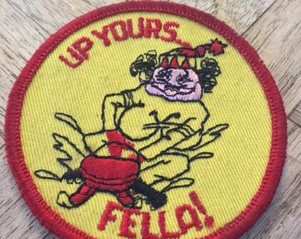 Vintage Patch Up Yours Fella Witch Woman Feminist