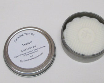 LEMON Solid Lotion Bar made with doTerra essential oil