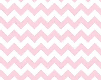 SALE Fat Quarter Only - Baby Pink Chevron Small - Riley Blake - Fat Quarter Cotton Fabric - Riley Blake Basics