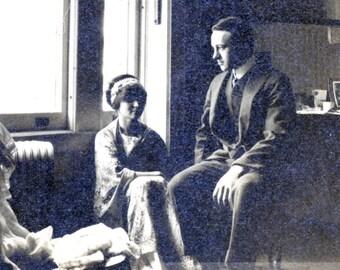 vintage photo 1911 NYC Seventh AV & 54th St Couple Window Light Bill Clinton or Kevin Spacey  Doppleganger
