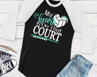 My Heart is on that Court Svg, Volleyball Heart Svg, Volleyball Life Svg, Volleyball Mom Svg, Sports Svg, Volleyball Svg Dxf Png Jpeg