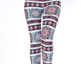 Tatum - Mandela Leggings - Womens leggings, warm leggings, winter leggings,