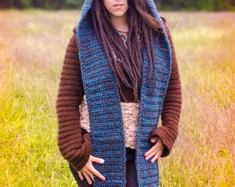 Hooded scarf, scoodie