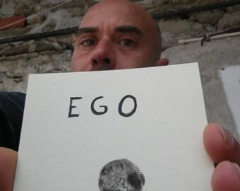Ego of Cili. Impression and signature on paper.