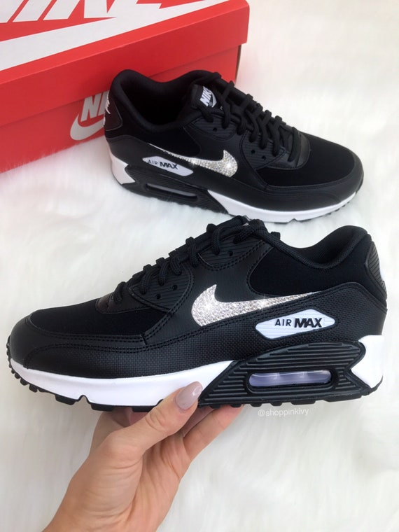 Nike Blinged Shoes Nike Bling Out With Shoes Max Swarovski Premium Swarovski 90 Black Air Crystals UpqaCwx4
