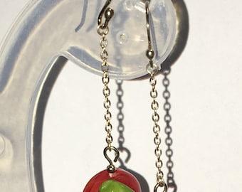 Glass lampwork Cherry Earrings (Sterling Silver)