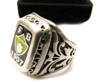 Free  Shipping/Vintage Sterling Silver Fener Bahce /FB Ring/Man Gifts